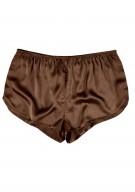 Damen Hot Pants Seide - braun