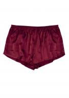Damen Hot Pants Seide - weinrot