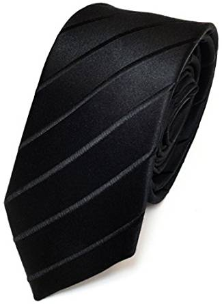 Herren Seidenkrawatte Schwarz mit Streifen