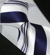 Herren Seidenkrawatte blau-weiß