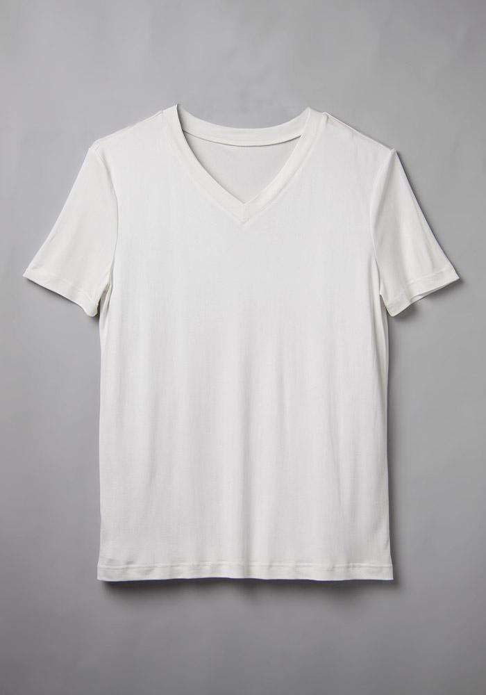 klassisches t shirt mit tiefem v ausschnitt. Black Bedroom Furniture Sets. Home Design Ideas