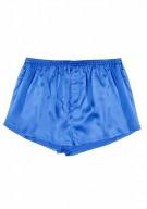 Herren Shorts Seide - azurblau