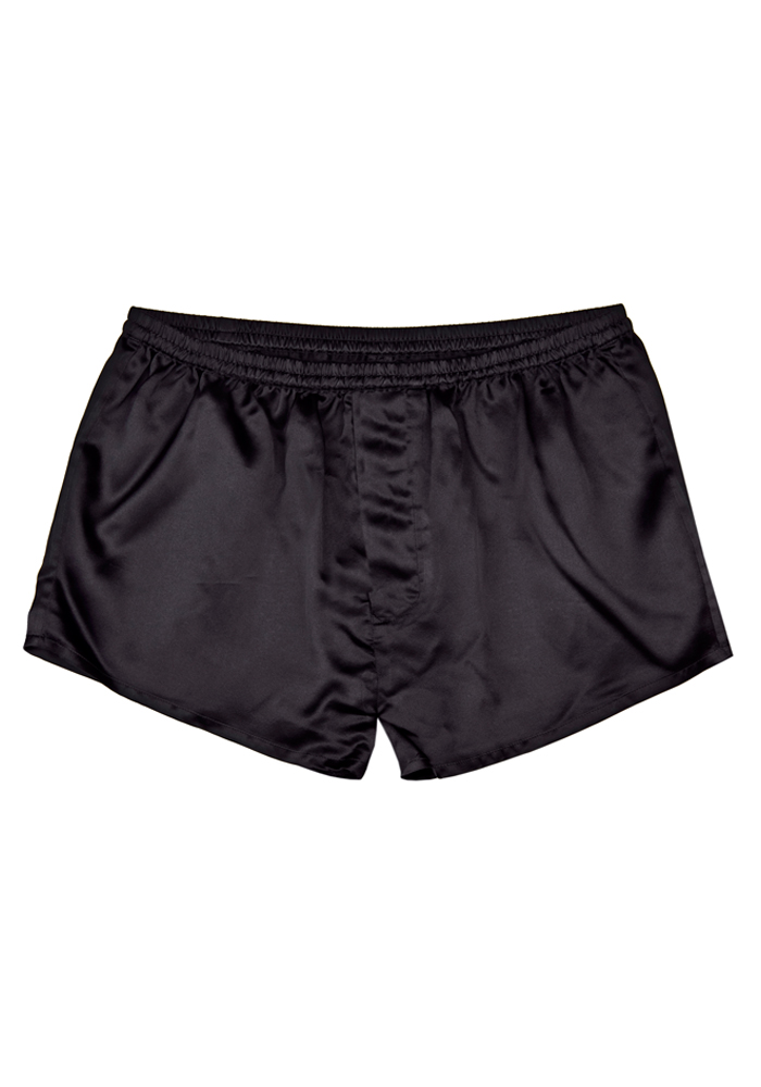 bequeme schwarze boxershorts aus reiner seide. Black Bedroom Furniture Sets. Home Design Ideas