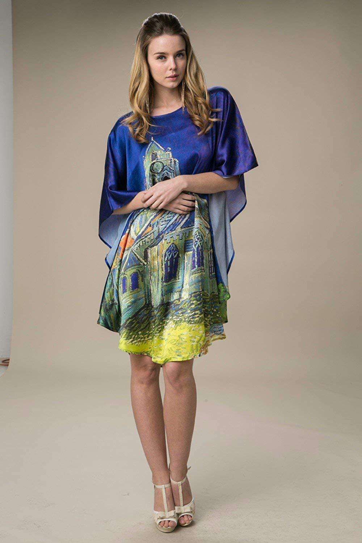 Kimono & Nachhemd Seide mit Muster
