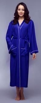 Kimono Seide Damen - marineblau