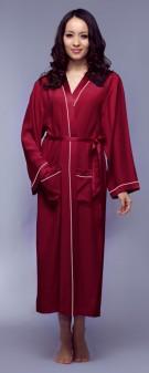 Kimono Seide Damen - weinrot