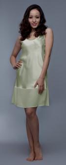 Nachthemd Seide Damen - apfelgrün