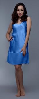 Nachthemd Seide Damen - azurblau