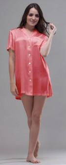 Nachthemd Seide Damen - dunkel pink