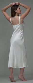 Nachthemd Seide Damen - elfenbein weiß