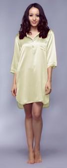 Nachthemd Seide Damen - hellgelb