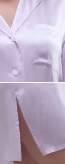 Nachthemd Seide Damen - hellviolett