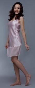 Nachthemd Seide Damen - rosa