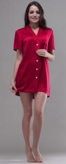 Nachthemd Seide Damen - rot