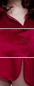 Nachthemd Seide Damen - weinrot
