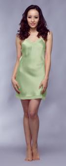 Neglige Seide Damen - apfelgrün
