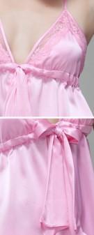 Neglige Seide Damen - pink