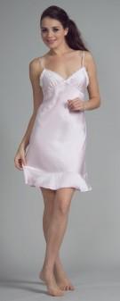 Neglige Seide Damen - rosa