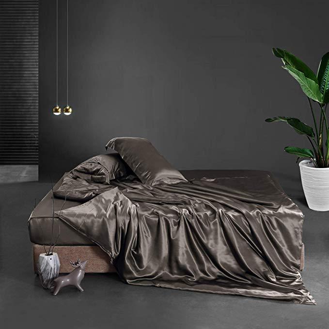 Seiden Bettbezug schwarz