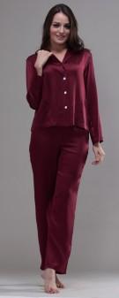 seiden-pyjama-damen-dunkelrot-1662-01