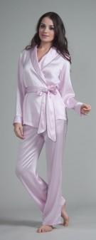 Seiden Pyjama Damen - hellviolett
