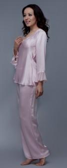 Seiden Pyjama Damen - rosa