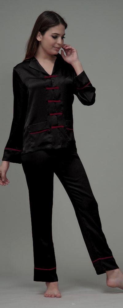 01af9ced7d Damen Pyjama im trendigen Asia-Stil