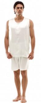 Seiden Pyjama Herren - elfenbein
