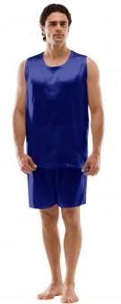Seiden Pyjama Herren - marineblau