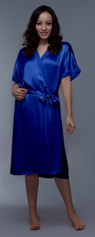 Seidenkimono Damen - marineblau