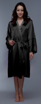 Seidenkimono Damen - schwarz