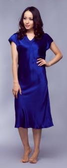 Seidennachthemd Damen - blau