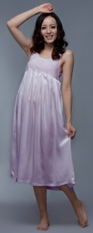 Seidennachthemd Damen - hellviolett
