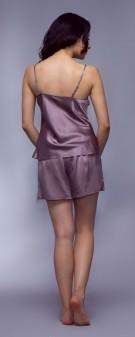 Seidenpyjama Damen - grau