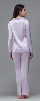 Seidenpyjama Damen - hellviolett