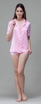 Seidenpyjama Damen - pink