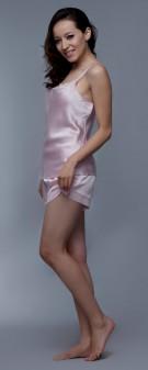 Seidenpyjama Damen - rosa