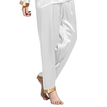 Seidenhose Lilysilk Pyjamahose weiß