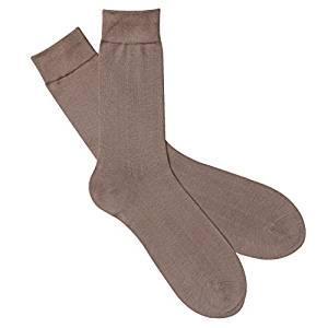 Seiden Socken Herren beige